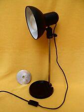 80s 90s STUDIO TASK LAMP, Vintage BLACK & GOLD METAL, Retro BEDSIDE TABLE LIGHT
