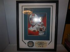 dan marino game used  jersey piece and highland mint coin