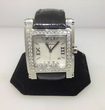 Chopard Happy Sport Square II XL Diamond Bezel Ladies Watch 28/8448-2001 New