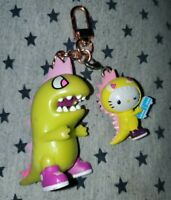 Lot of 2 - 1 Exclusive Tokidoki Tokimon Kaiju Keychain & 1 Hello Kitty Kaiju lot