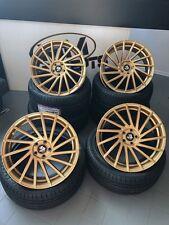 18 Zoll Ultra Wheels UA9 Alu Felgen 8x18 et47 5x112 Gold für S3 GTI R R32 RS AMG