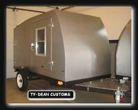 SFancy Applique Camper Teardrop 4 x 4
