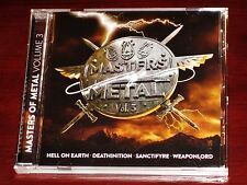 Masters Of Metal Vol. 3 CD 2017 Hell On Earth, Deathinition, Sanctifyre, etc NEW