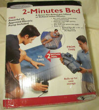 INFLATABLE 2 MINUTE BED QUEEN SIZE by HANDY TRENDS w PUMP & CARRY BAG COMPLETE
