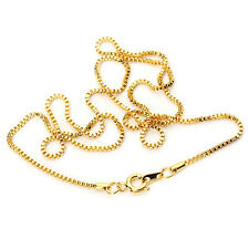 49cm 1.2MM 10pcs/lot Yellow Gold Plated Necklace Box Chains DIY Jewelry Findings
