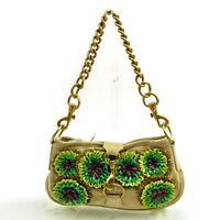 miumiu Shoulder bag Beige Green Woman Authentic Used Y5950