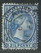 Falkland Is Stamps 14 SG 29 21/2d  Prussian Blue SOTN F/VF 1894 SCV $160.00