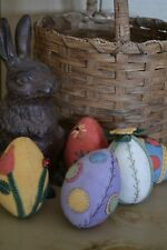 WOOL APPLIQUE PATTERN - WOOL PASTEL EASTER EGGS - 5 DIFFERENT DESIGNS! EASY!!!