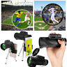 40X60 HD Zoom Optical Lens Monocular Telescope + Clip + Tripod For Mobile Phone