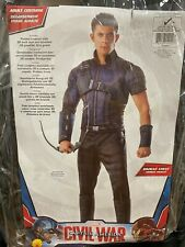 NIP Captain America Civil War Hawkeye Costume Halloween Cosplay STD XL