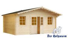 34 mm Gartenhaus 400x300 cm ERFURT 3 Gerätehaus Blockhaus Holz Holzhaus Schuppen