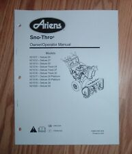 ARIENS DELUXE TRACK 24, 27, 30 SNOW THROWER OWNERS MANUAL