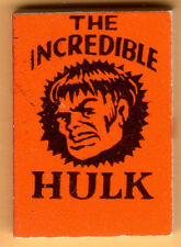 INCREDIBLE HULK Orange MARVEL MINI BOOK Comic 1966 VENDING Gumball Prize MMMS