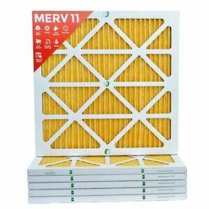 18x24x1 Ultra Allergen Merv 11 Replacement AC Furnace Air Filter (6 Pack) - NEW