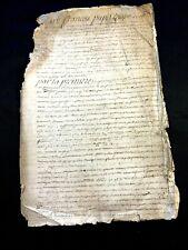 1700s ANTIQUE MANUSCRIPT  8 pages