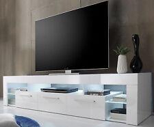 TV Lowboard TV-Tisch in weiss Hochglanz Count Fernsehtisch HiFi-Möbel mit 200 cm