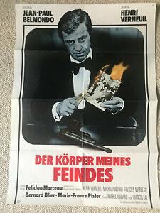 Jean Paul Belmondo, Der Körper meines Feindes  - Original Filmplakat A1
