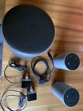 Komplett Anlage,2x Amazon Echo (2. Generation) + Subwoofer,Sprachgesteuert