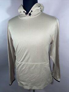 ExOfficio Mens Buzz Off Insect Shield Sz M Hoodie Sweatshirt Mesh Lined Khaki