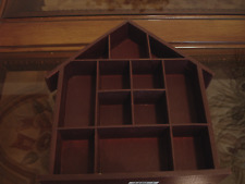 SMALL WOOD CURIO DISPLAY SHELF FOR MINIATURES 12 COMPARTMENTS