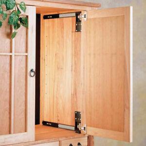 Accuride CB123-18D Pocket Door System  Flipper Door & Hardware, Black one Pair