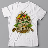 POWERED BY PLANT vegan T-shirt - Funny Vegetarian gift idea Tee