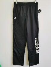 Adidas Unisex Boys Performance Logo Pants Black and White Unisex Xl 18