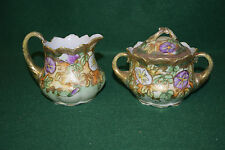 Vintage Japan I.E. & C. Co Sugar and Creamer Pair - Hand Painted