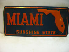 Florida Booster License Plate   MIAMI    SUNSHINE STATE    Vintage  as5161