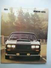 Mercury Ford Capri brochure Prospekt text English 14 pages 1984