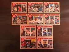 2017 Topps Heritage Minors League Leaders Complete Set of 10 Hoskins Chapman