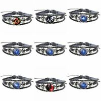 Bangle beads 12 Bracelets with Fashion F Sign Sale Leather Zodiac Constellations