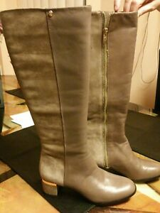 VERO CUOIO Women's Leather Heeled Boots Size 7B NWOB
