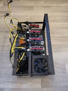 4 GPU Mining Rig, Setup Ready to Go, Just Add GPU's