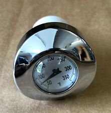 Chrome White Face Temperature Thermometer Oil Dipstick Harley Sportster 04-19