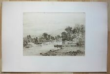 Frederick deBourg Richards 1880's etchings Philadelphia PA NJ artist