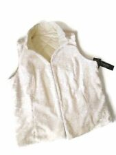 NEW women's RALPH LAUREN Cream Faux Persian Lamb Fur Reversible Vest 2X XXL
