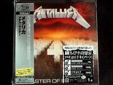 Metallica - Master Of Puppets Japan SHM-CD Mini LP OBI Brand New UICY-94664