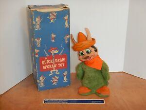 1959 KNICKERBOCKER BABA LOOEY PLUSH DOLL QUICK DRAW MCGRAW TOY WITH ORIGINAL BOX