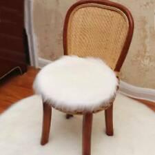 Round Fluffy Faux Fur Seat Cushion Pad Shaggy Plush Area Rug Warm Stool Y2
