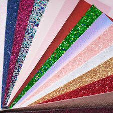 Mixed Fabrics Scrap Pack - Chunky Glitter Leatherettes - Bows & Crafts 15 pieces