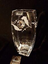 glass vase Valentine's Day Swarovski Crystal & Sandblasted Gift present