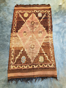Vintage Moroccan wool rug  157 x 82 cm