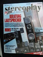 STEREOPLAY 1/91 MARTIN LOGAN MONITOR III,ARL 7,IQ TRENT 1,T+A STRATOS A 22,