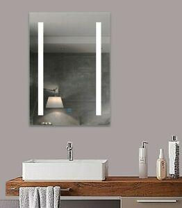 LED Wandspiegel 50x70 Badezimmerspiegel mit Beleuchtung Bechlagfrei Lichtspiegel