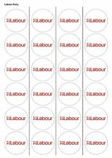 24X PRECUT LABOUR PARTY, EDIBLE WAFER PAPER, CUPCAKE, CAKE TOPPERS 1132