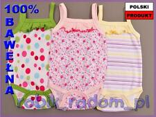 Babybody Mädchenbody mit Trägern und Rüschen Größe 62, 68, 74 Body
