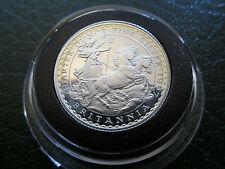 1997 Britannia Carro 50p Cincuenta Centavos Fino 1/4oz Plata moneda de prueba en Cápsula