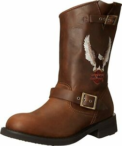 Harley Davidson Men's Jerry Motorcycle Boot Brown New Size 9M
