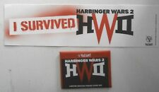 Harbinger Wars 2 VALIANT Promo Card Set Plus Bumper Sticker 2018 ComicsPro